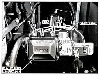 1957 Buick Capacitor Mounted on Generator Regulator