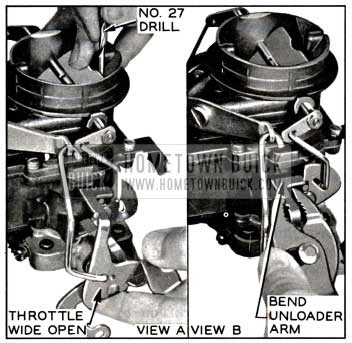 1957 Buick Carburetor Choke Unloader Adjustment
