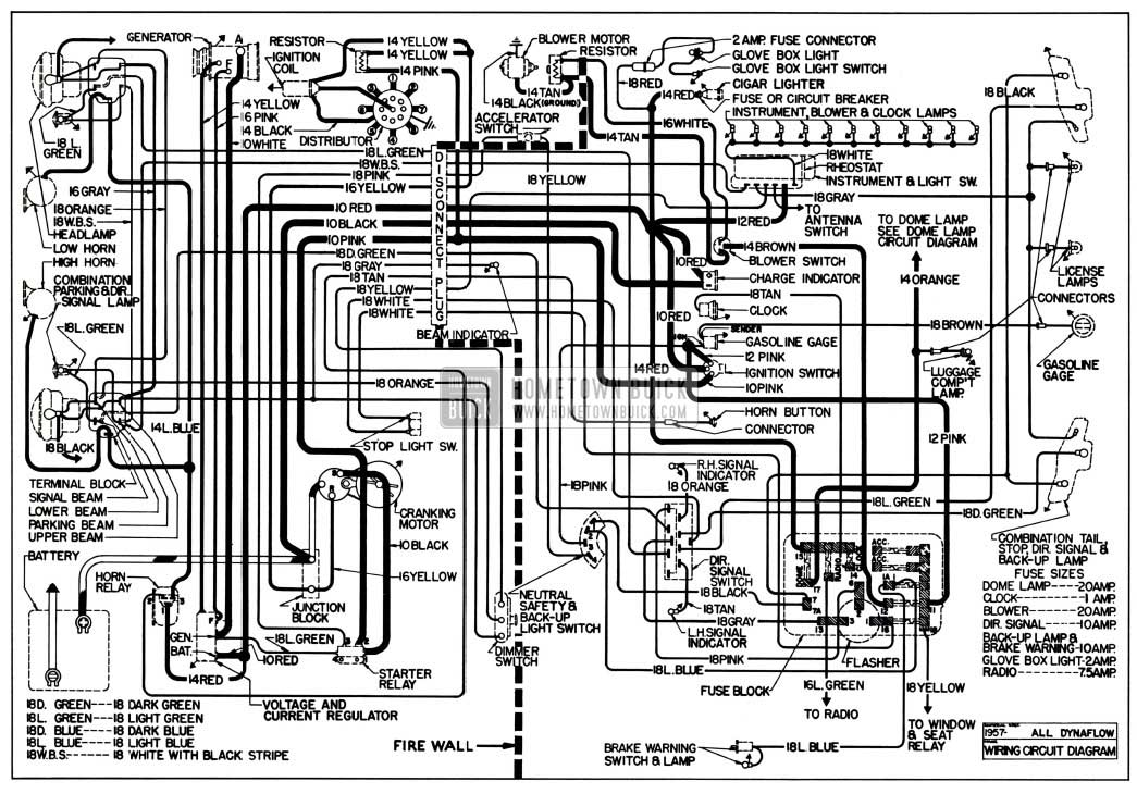1957 buick chassis wiring diagram dynaflow transmssion 1957 buick wiring diagrams hometown buick 1957 buick special fuse box location at gsmx.co