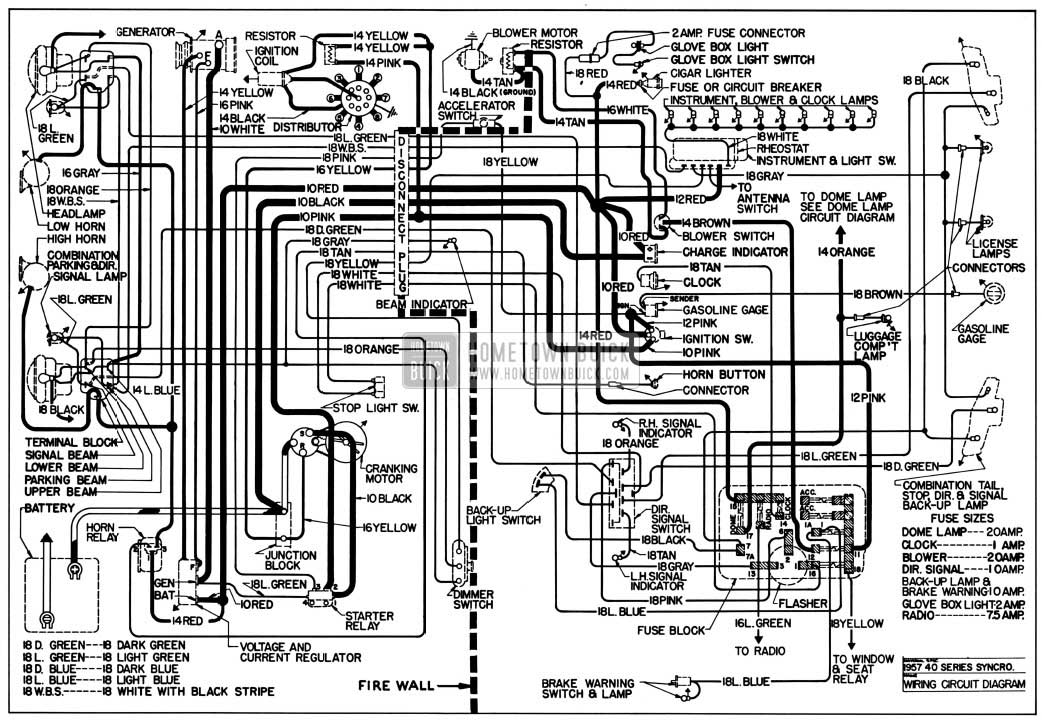 1957 buick chassis wiring diagram synchromesh transmssion 1957 buick wiring diagrams hometown buick 1957 buick special fuse box location at panicattacktreatment.co