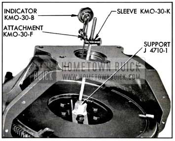 1957 Buick Checking Alignment of Housing at Pilot Hole