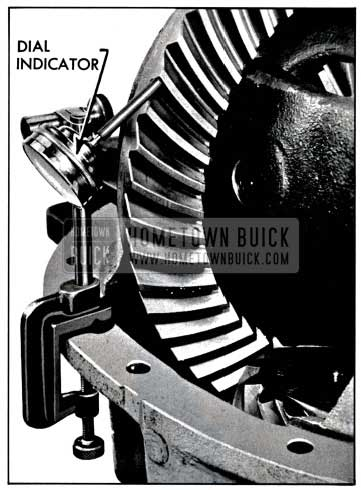 1957 Buick Checking Backlash with Dial Indicator
