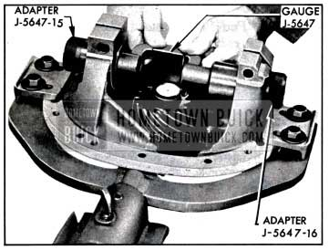 1957 Buick Checking Pinion Setting