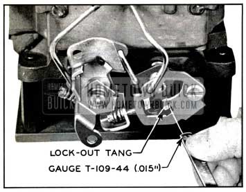 1957 Buick Checking Secondary Lock-Out Adjustment