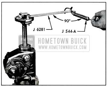 1957 Buick Checking Thrust Bearing or Lash Adjustment with Scale