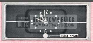 1957 Buick Clock