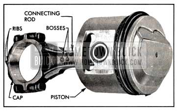 1957 Buick Connecting Rod and Piston Assembly