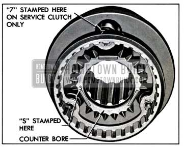 1957 Buick Counterbore and Marks on Second Speed End of Clutch