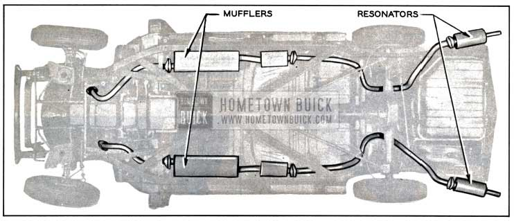 1957 Buick Dual Exhaust System