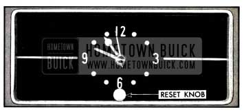 1957 Buick Electric Clock Reset Knob