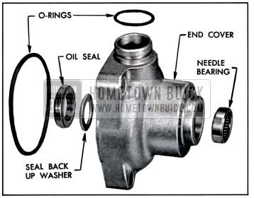 1957 Buick End Cover Bearing and Seal Assembly