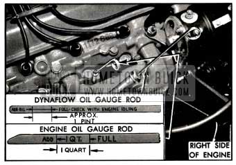 1957 Buick Engine and Dynaflow Oil Gauge Rods