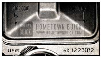 1957 Buick Engine and Production Code Numbers