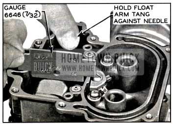 1957 Buick Float Level Adjustment