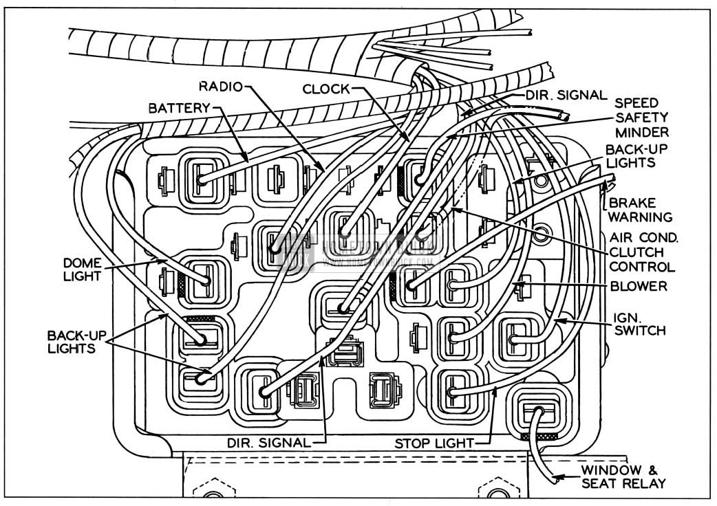 1957 buick fuse block connector side 1957 buick wiring diagrams hometown buick 1957 buick special fuse box location at gsmx.co