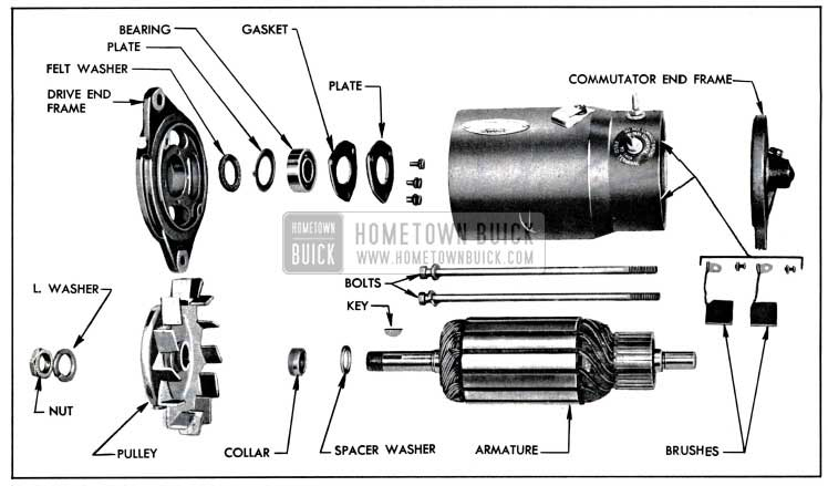 1957 Buick Generator Disassembled