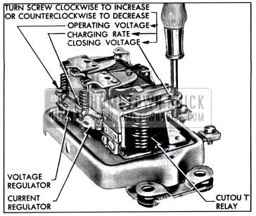 1957 Buick Generator Regulator Spring Tension Adjustments
