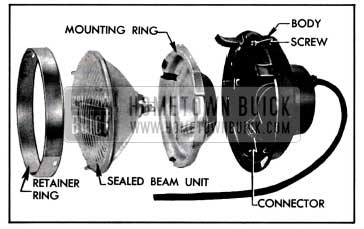 1957 Buick Headlamp Disassembled