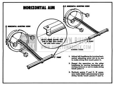 1957 Buick Headlamp Horizontal Aim