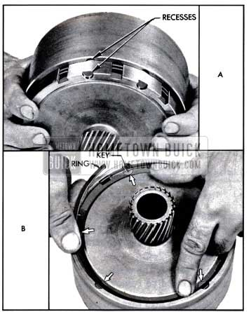 1957 Buick Installing Drum Over the Reaction Flange Gear