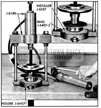 1957 Buick Installing Rear Wheel Bearing or Retaining Ring