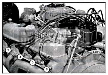 1957 Buick Installing Spark Plug Wires-Left Bank