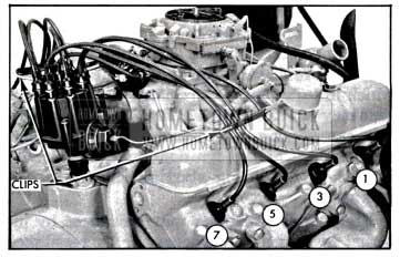 1957 Buick Installing Spark Plug Wires-Right Bank