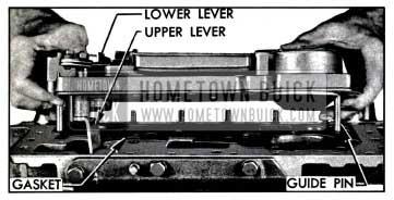 1957 Buick Installing Valve and Servo Body Assembly