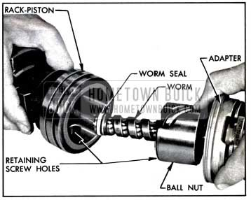 1957 Buick Installing Worm Assembly In Rack-Piston