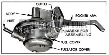 1957 Buick Location of Pump Parts