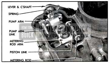 1957 Buick Metering Rod and Pump Operating Parts