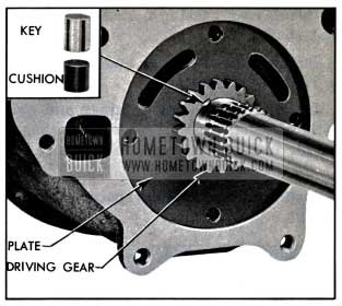 1957 Buick Oil Pump Driving Gear and Key Installed