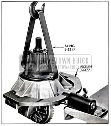 1957 Buick Placing Carrier In Holding Fixture