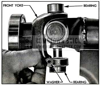 1957 Buick Placing Washer Inside Front Yoke Bearing