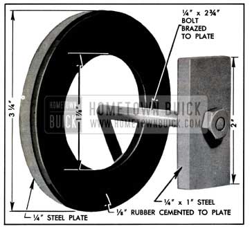 1957 Buick Plate and Washer for Pump Test