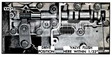 1957 Buick Position of Control Valve in Direct Drive Range