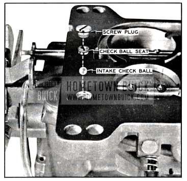 1957 Buick Pump Intake Check Parts