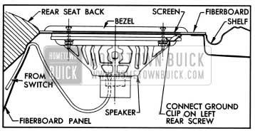 1957 Buick Rear Seat Speaker Installation
