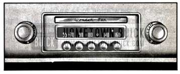 1957 Buick Receiver Controls-Wonderbar Radio
