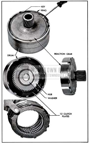 1957 Buick Removal of Reaction Gear, Hub, and Plates