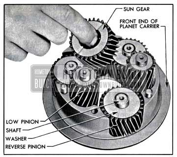 1957 Buick Removal of Sun Gear and Planet Pinions