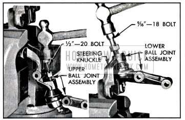 1957 Buick Removing Ball Joints from Steering Knuckle