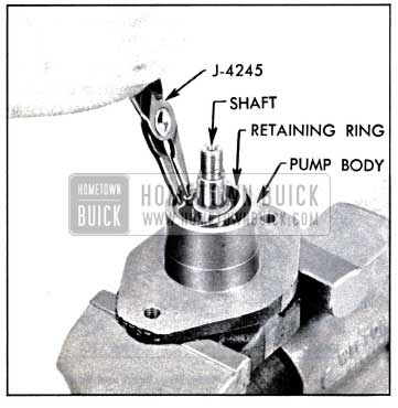 1957 Buick Removing Bearing Retaining Ring