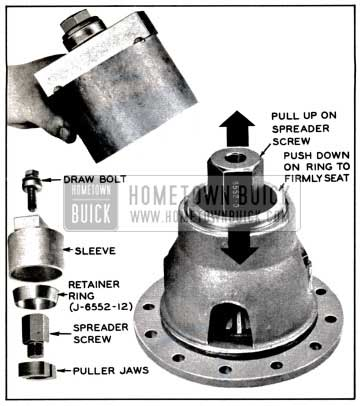 1957 Buick Removing Differential Bearing Outer Race