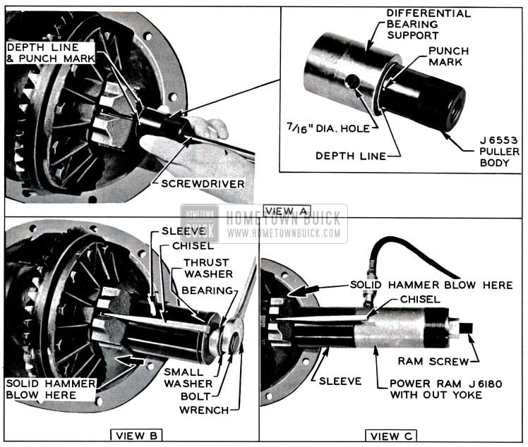 1957 Buick Removing Differential Bearing Support