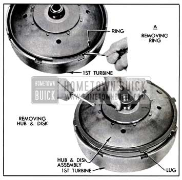 1957 Buick Removing Disk and Hub Assembly
