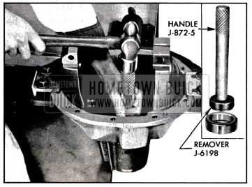 1957 Buick Removing Front Pinion Bearing Outer Race