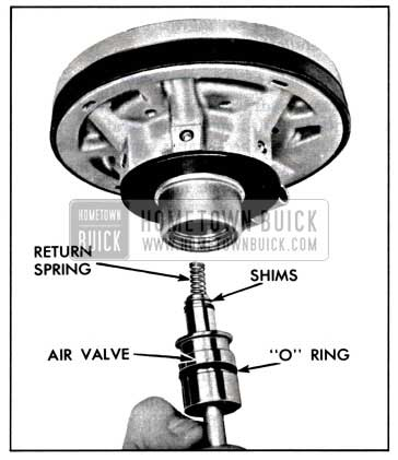 1957 Buick Removing or Installing Air Valve Assembly