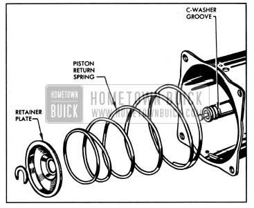 1957 Buick Removing Piston Return Spring