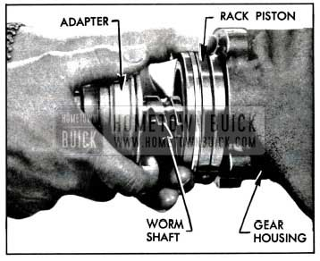 1957 Buick Removing Rack-Piston and Worm Assembly